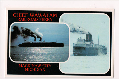 MI, Mackinaw City - Chief Wawatam Railroad Ferry postcard - F17234