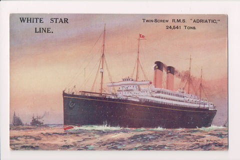 Ship Postcard - ADRIATIC, RMS Twin Screw - White Star Line - FF0006
