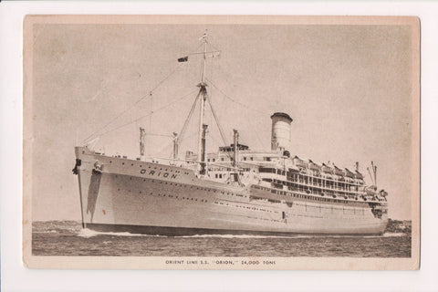 Ship Postcard - ORION, SS - Orient Line - mailed 1957 - FF0010