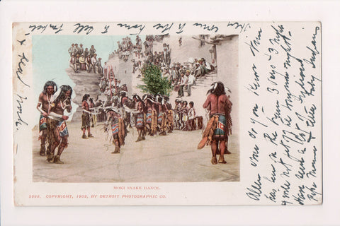 Indian postcard - Moki Snake Dance - Detroit Photographic - FF0015