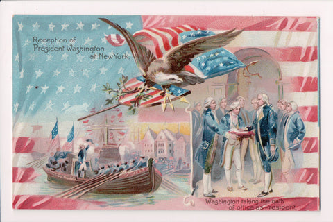Famous People Postcard - President Washington taking oath - FF0019