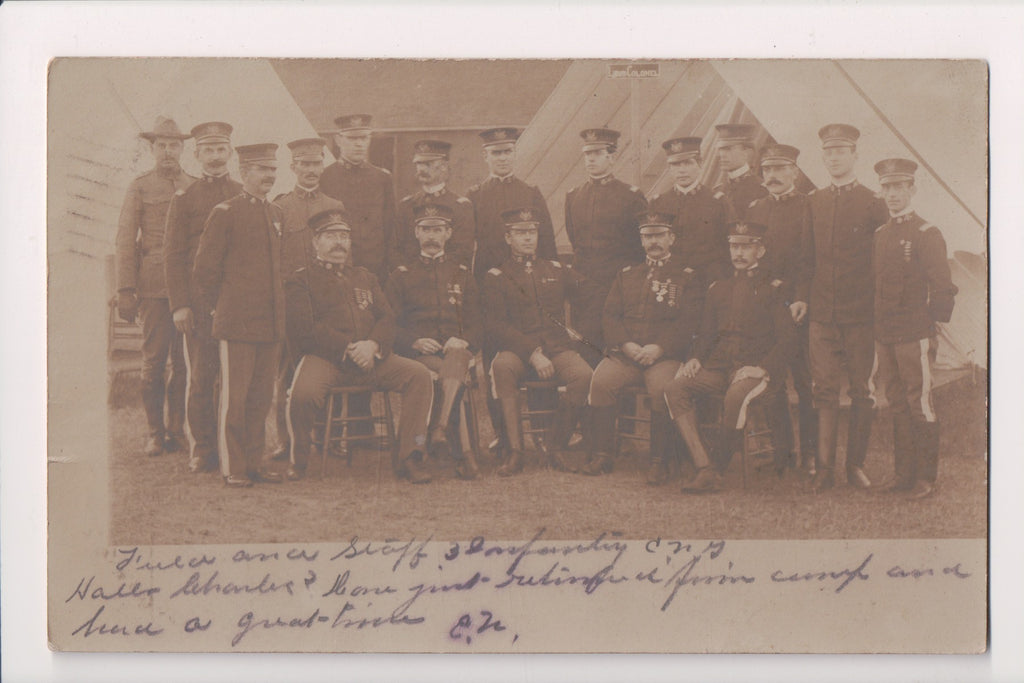 Military Postcard - US Military men - 3rd Infantry - 1905 RPPC - FF0022