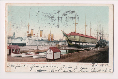 Ship Postcard - OLD IRONSIDE and warships - Detroit Pub Co - FF0025