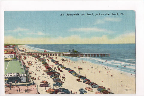 FL, Jacksonville Beach - Coaster Bath House, beach etc - CP0299