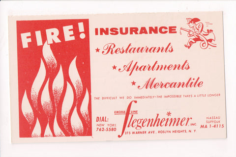 NY, Roslyn Heights - FLEGENHEIMER, INC advertisement - FIRE Ins - 605068