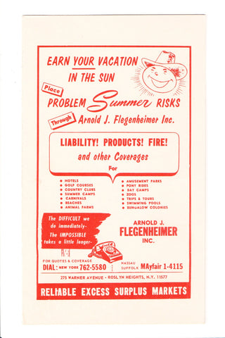 NY, Roslyn Heights - ARNOLD J FLEGENHEIMER INC advertisement - C06539