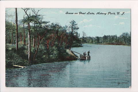 NJ, Asbury Park - Deal Lake scene about 1908 postcard - G03192