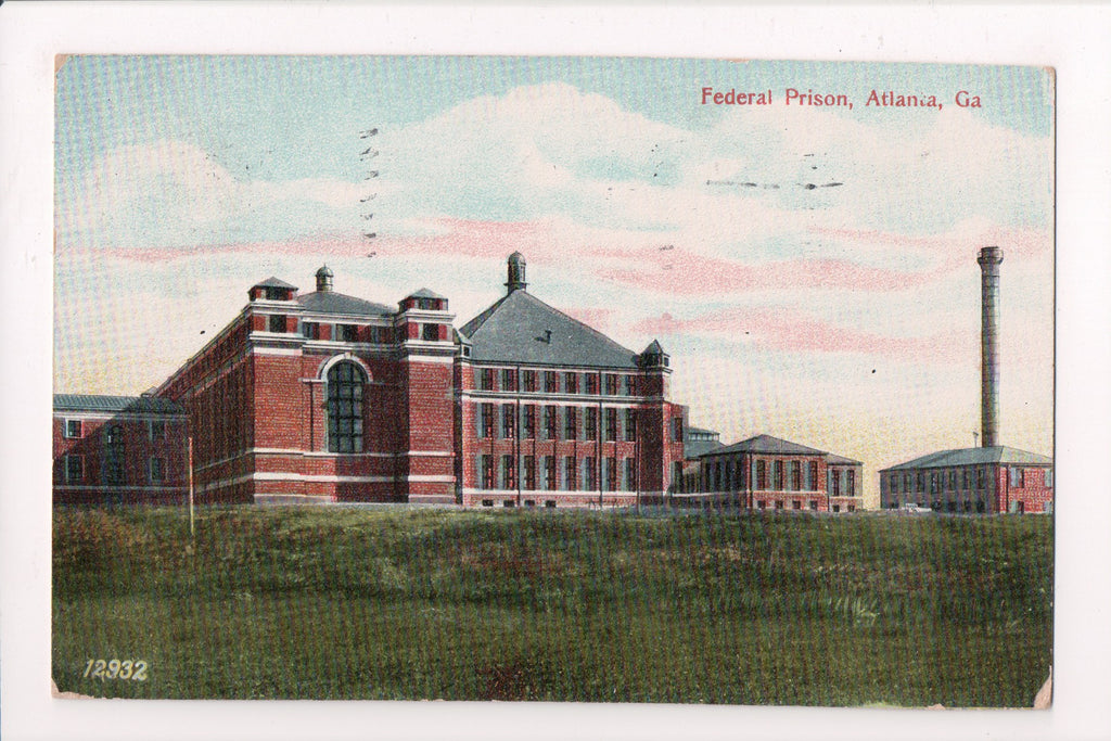 GA, Atlanta - Federal Prison - @1909 postcard of Jail - SL2474