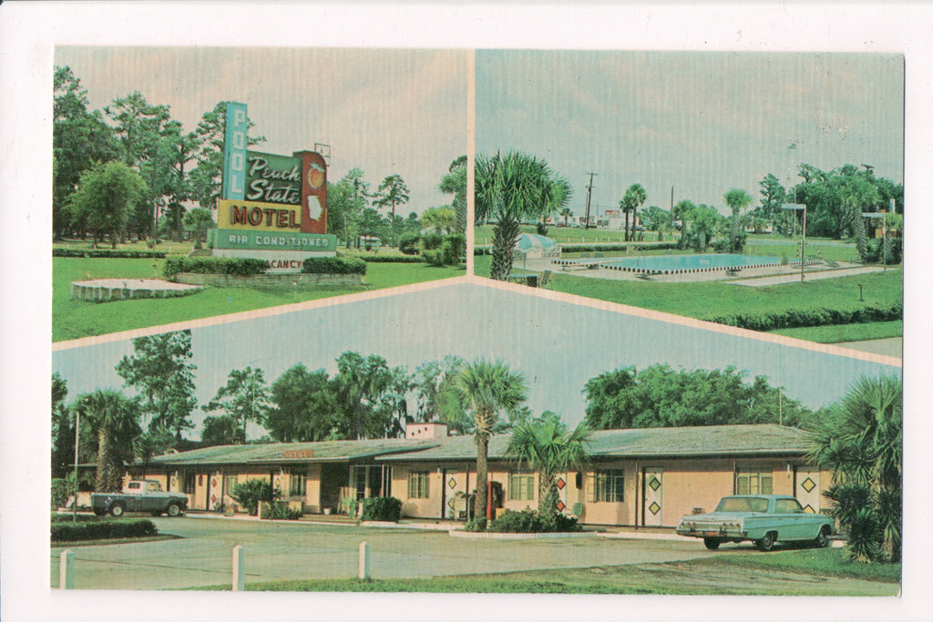 GA, Brunswick - Peach State Motel - multi view postcard - w04765