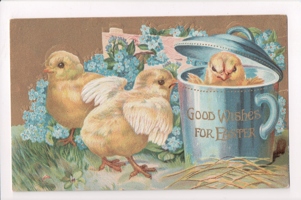Easter - A chick in a covered cup, and a couple others - A06720