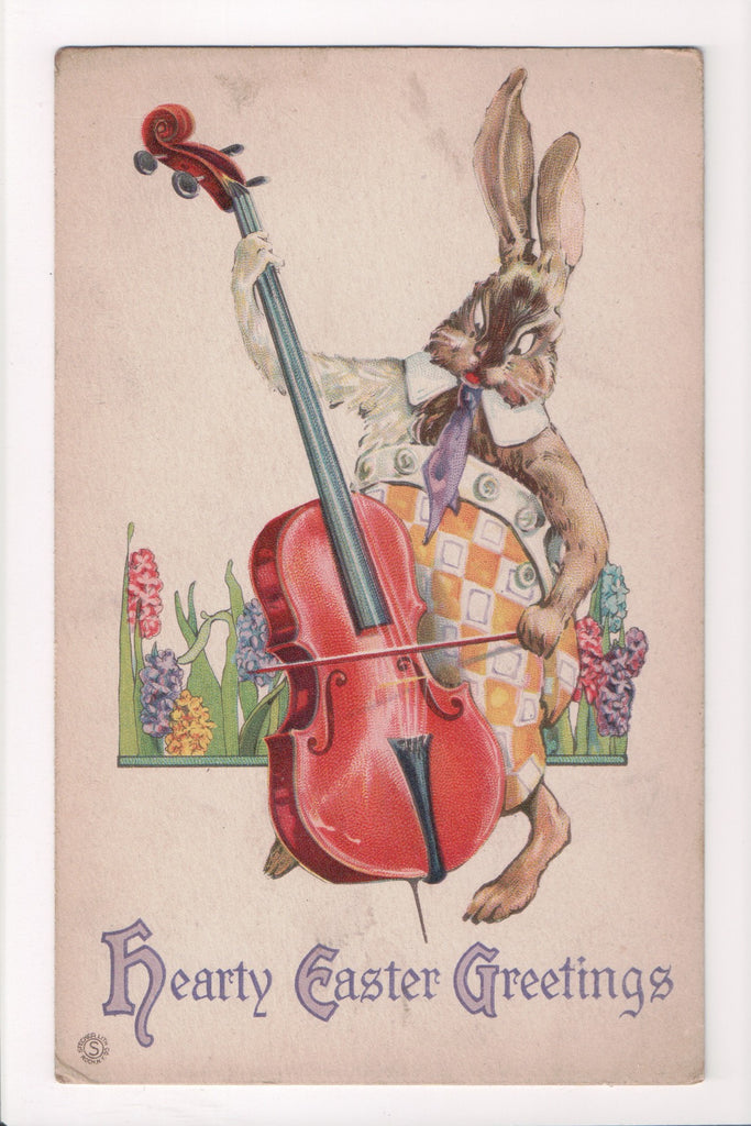 Easter - Humanized fantasy dressed rabbit, hare playing instrument - B17122