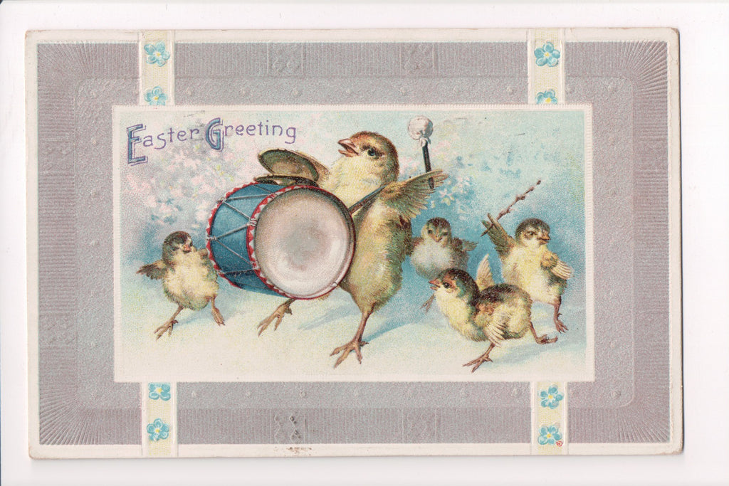 Easter - Humanized fantasy drummer chick with others following - E10482
