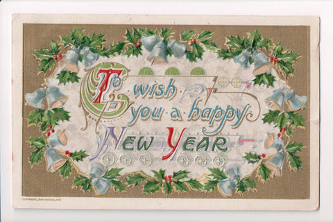 New Year - John Winsch copyright, 1910 postcard - C08655