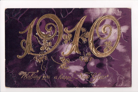 New Year - Large 1910 in gold with a purple background - C08669