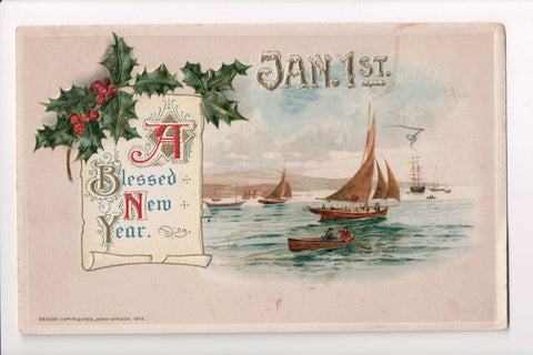 New Year - A Blessed New Year - Jan 1st - Winsch, 1912 - SL2075