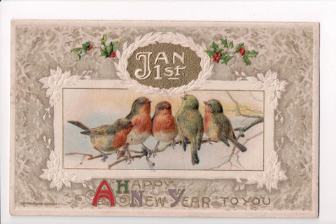 New Year - A Happy New Year, 5 birds (ONLY Digital Copy Avail) - SL2077