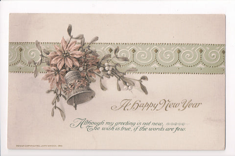 New Year - A Happy New Year - Winsch, 1915 postcard - sw0230