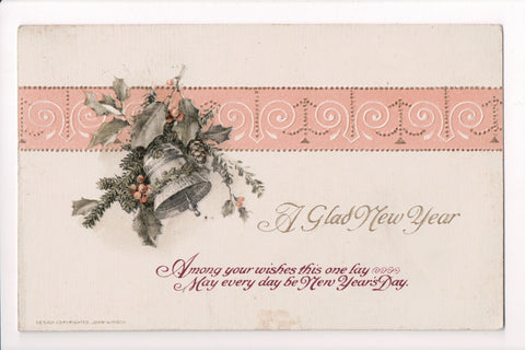 New Year - A Glad New Year - John Winsch postcard - sw0262