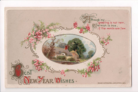 New Year - Best New Year Wishes - John Winsch, 1913 - sw0275