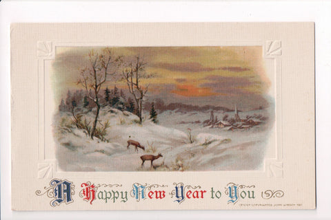 New Year - A Happy New Year to YOU - Winsch postcard - sw0277