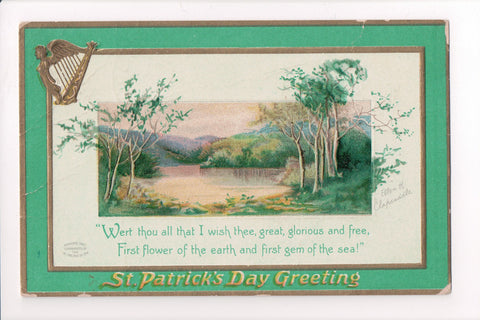 St Patrick - Greetings - Clapsaddle signed - H04049