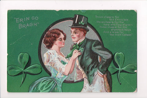 St Patrick - Erin Go Bragh - man and woman, poem - K06138
