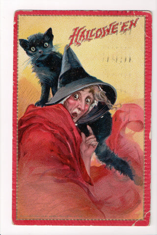 Greetings - Halloween postcard - Hallowe'en Witch (ONLY Digital Copy Avail) - B10122