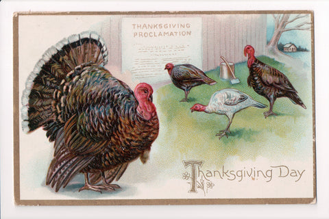 Thanksgiving - Day, Thanksgiving Proclamation Tuck postcard - B06370