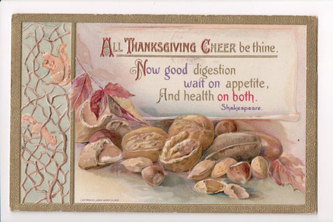 Thanksgiving - Cheer be thine, nuts, walnuts - John Winsch - S01428