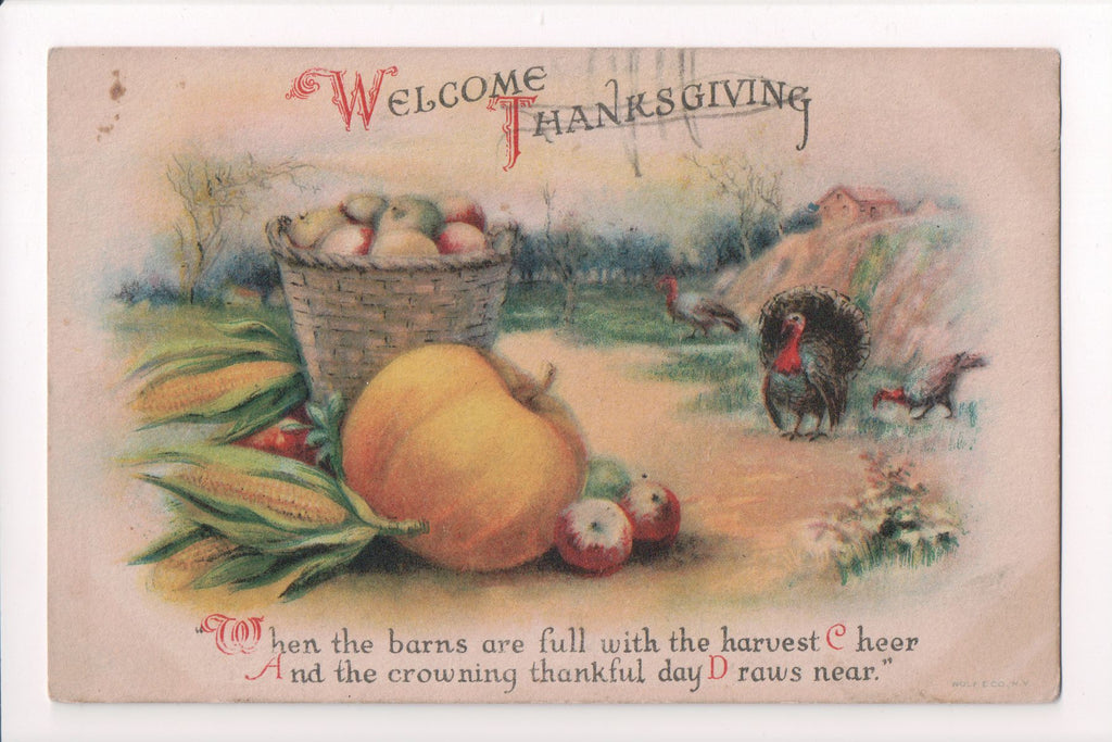 Thanksgiving - Welcome Thanksgiving - Clapsaddle? - w05077
