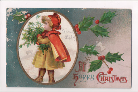 Xmas - A Happy Christmas - Brundage? - Young Girl - 405228 **Damaged / AS IS**