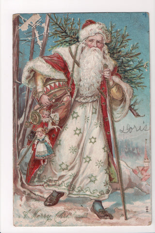 Xmas - A Merry Christmas - St Nick, Santa in white (ONLY Digital Copy Avail) - C08636