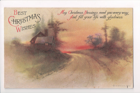 Xmas - Best Christmas Wishes - Ellen H Clapsaddle signed - SH7245