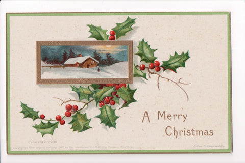 Xmas - A Merry Christmas - Clapsaddle signed - w00144