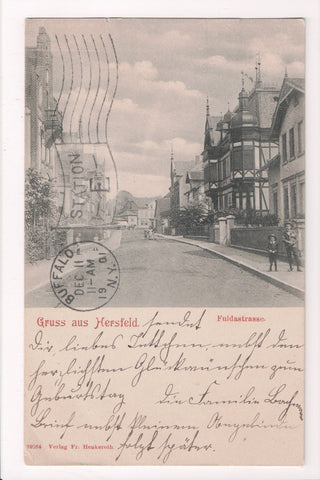 Foreign postcard - Hersfeld, Germany, Gruss aus from 1901 - w04744