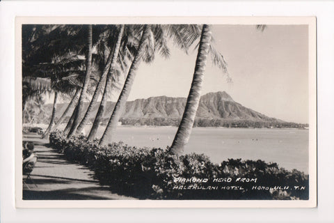 HI, Diamond Head, from Halekulani Hotel Honolulu, TH (ONLY Digital Copy Avail) w03170