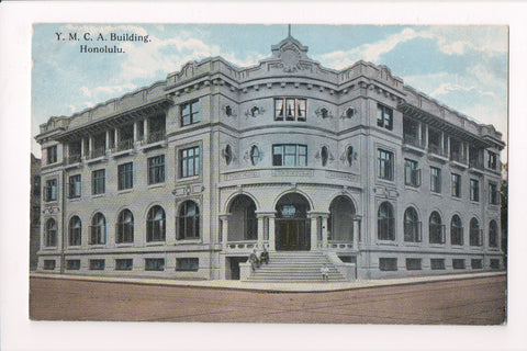 HI, Honolulu - YMCA building - includes stats on back of postcard - F09002