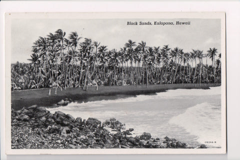 HI, Kalapana - Black Sands Beach - postcard - w01825