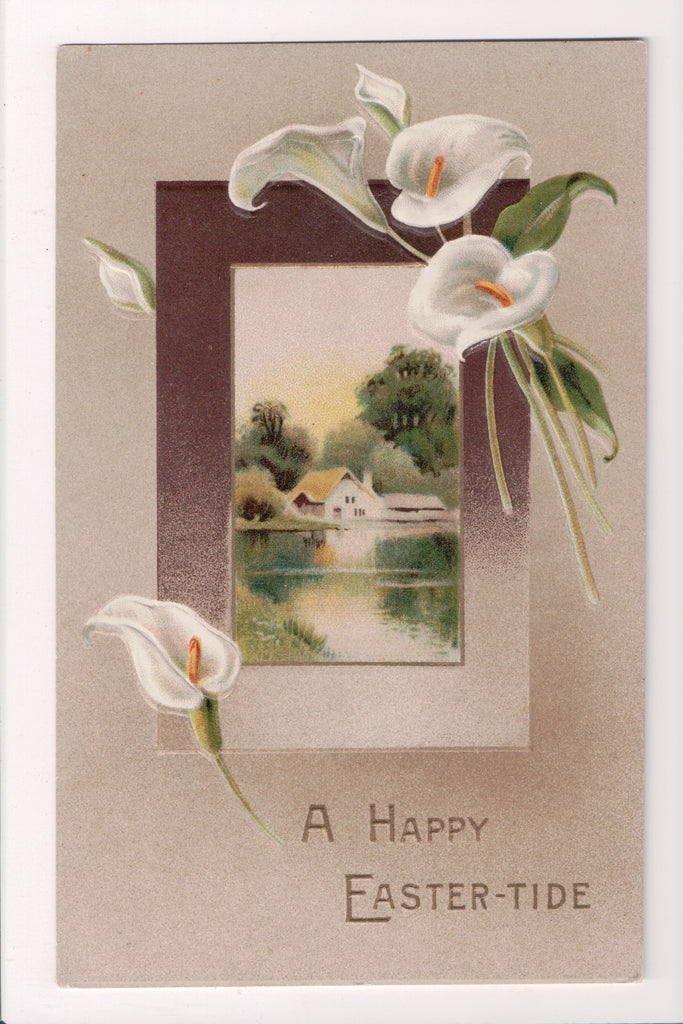 Easter postcard - white calla lilies - Series No 2389 - I04180
