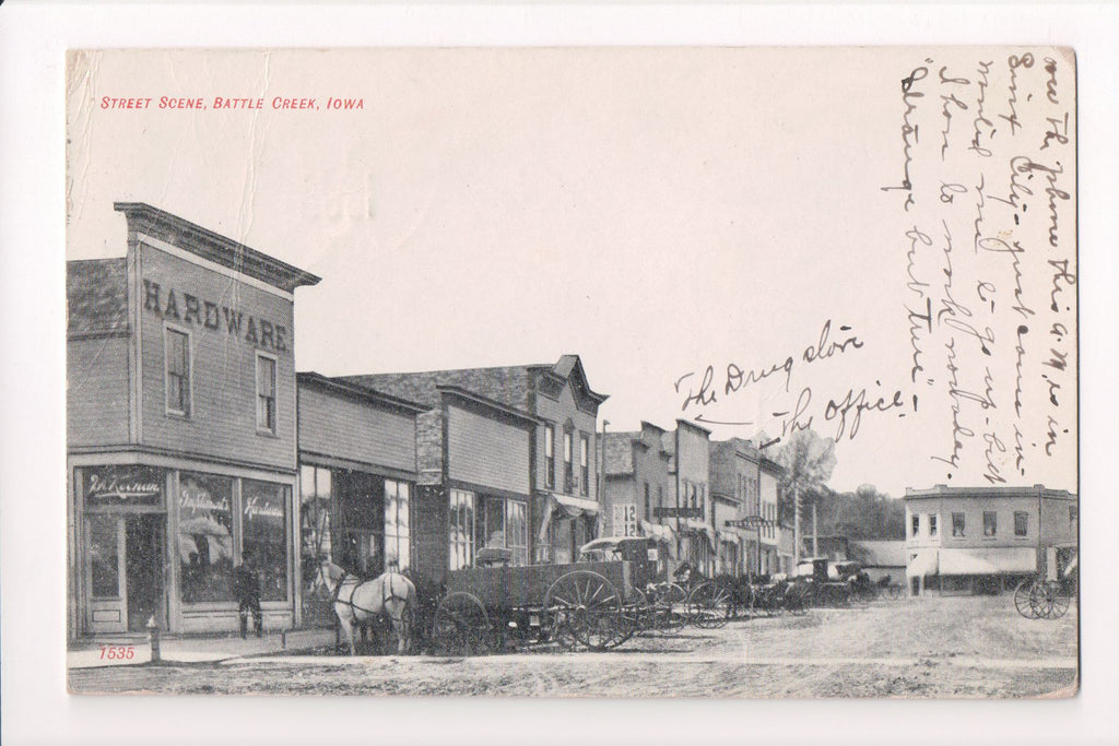 IA, Battle Creek - Street - Hardware, Drug Store (ONLY Digital Copy Avail) - B11172