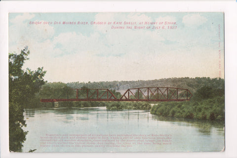 IA, Boone? - Bridge - Crossed by Kate Shelly July 6, 1881 postcard - D18100