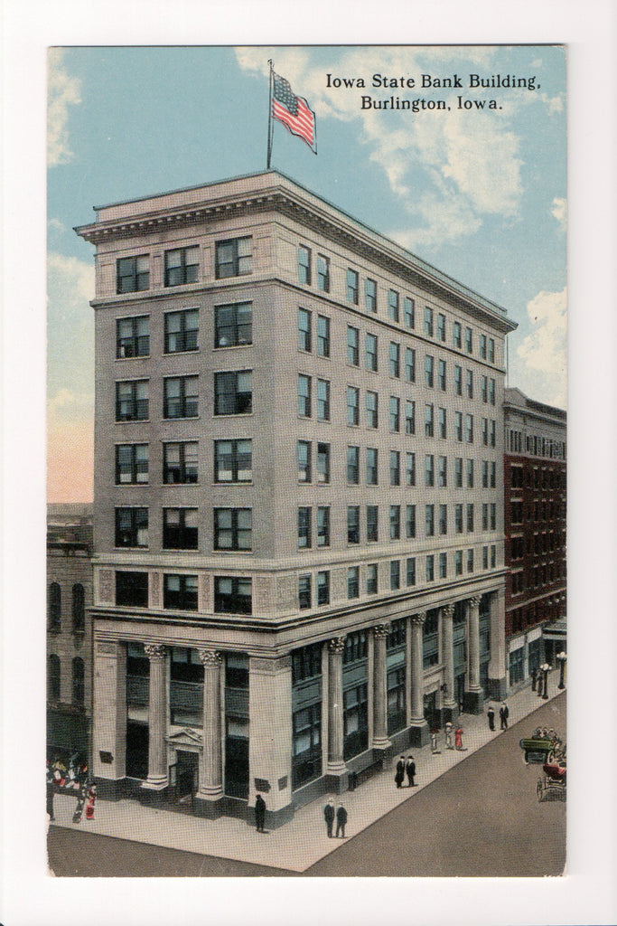 IA, Burlington - Iowa State Bank postcard - 500007