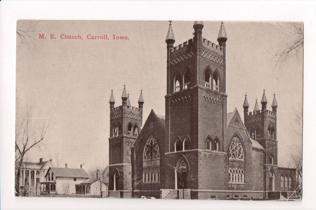 IA, Carroll - M E Church - Carroll Post Card Co - B11179