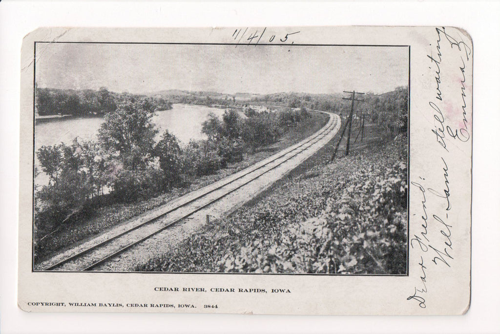 IA, Cedar Rapids - Cedar River, RR tracks - William Baylis - MB0859