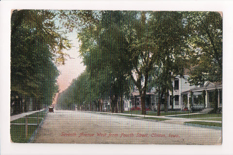 IA, Clinton - Seventh Avenue from Fourth St - G03385