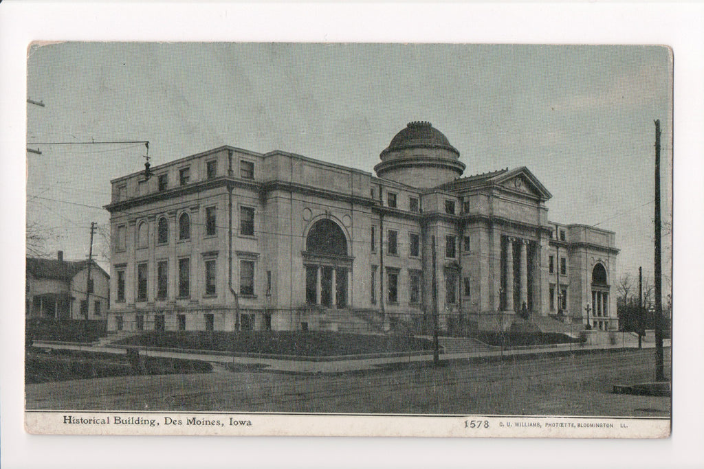 IA, Des Moines - Historical Building - C U Williams card - G03314