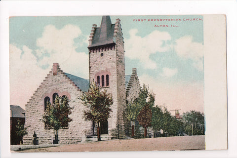 IL, Alton - First Presbyterian Church postcard - SL2481
