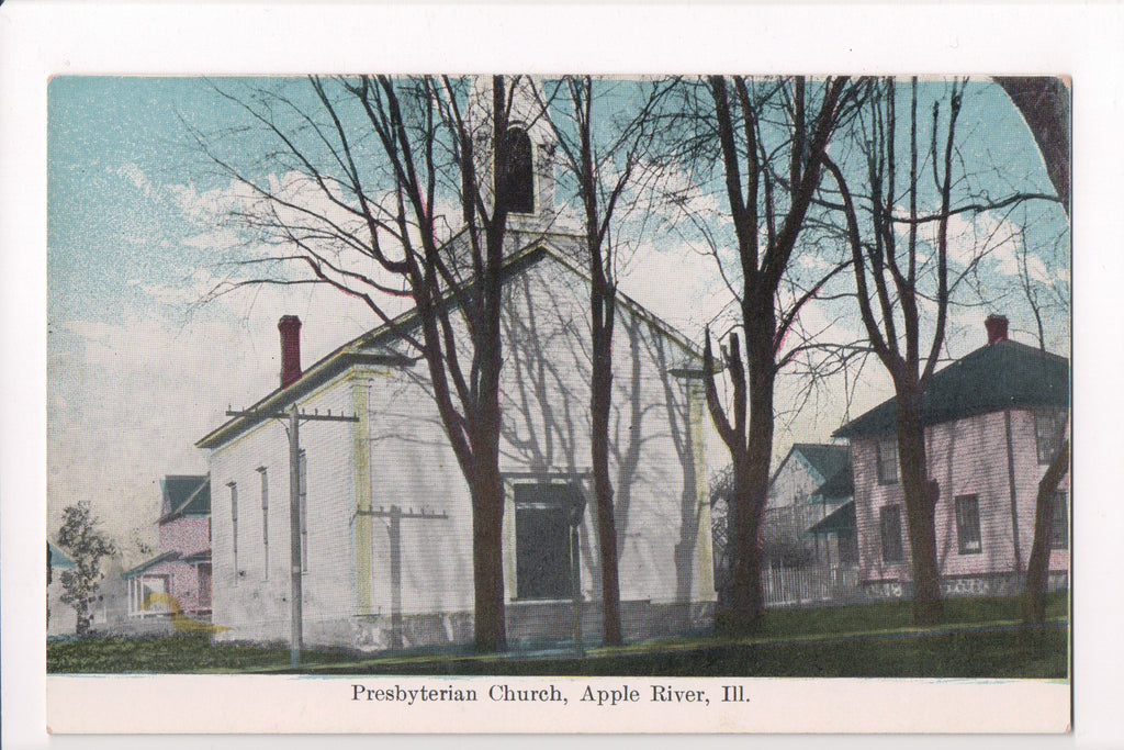 IL, Apple River - Presbyterian Church postcard - B05083