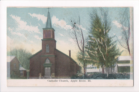 IL, Apple River - Catholic Church postcard - B05086