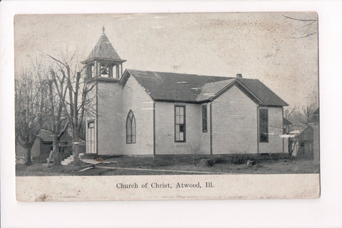 IL, Atwood - Church of Christ postcard - B17270